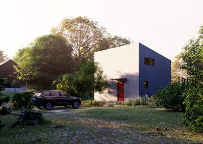 Dům TOP 01 dřevostavby Prefast vizualizace