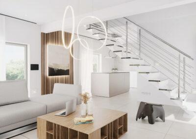 Interiér domu M102 - dřevostavba Prefast
