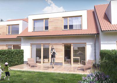 Klasický dům K146 dřevostavby Prefast vizualizace
