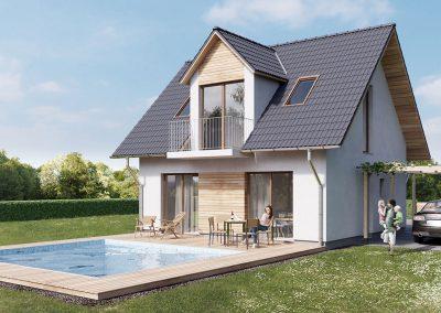 Klasický dům K88 dřevostavby Prefast vizualizace