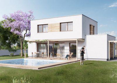 Moderní dům M103 dřevostavby Prefast vizualizace