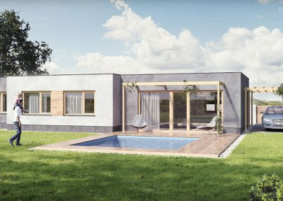 Moderní dům M98 dřevostavby Prefast vizualizace